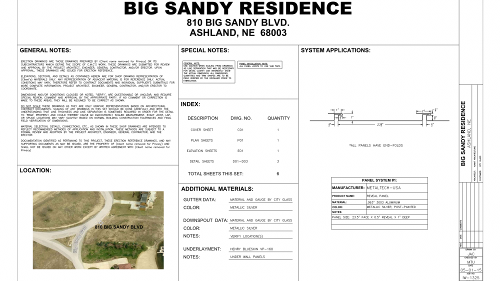 MetalTech – Big Sandy Residence Page 001